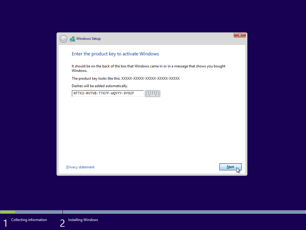 How to install windows 8 1 in virtualbox windows 8 1 10 for Window 8 1 product key