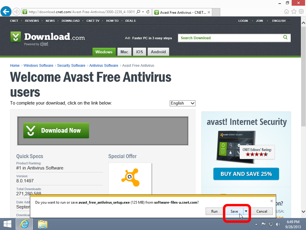 How to install avast free antivirus windows 8 1 10 guides Online antivirus download