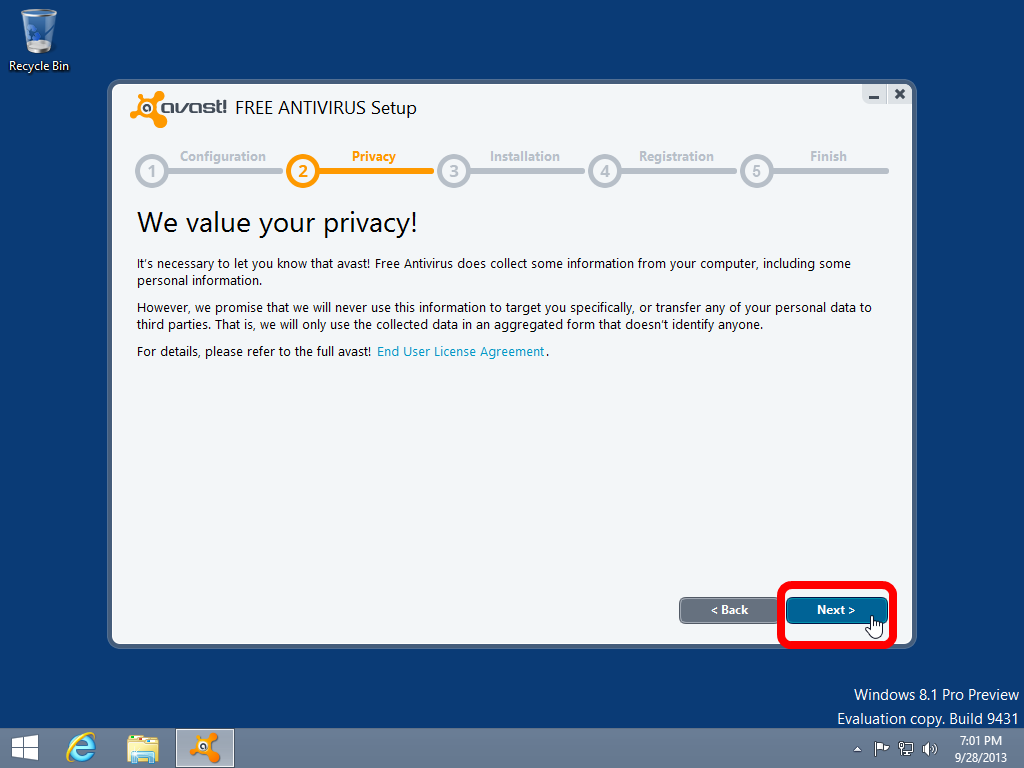 installing antivirus software Can't install an antivirus because of a  a pesky virus that won't allow you to install any antiviral software  would block me from installing.
