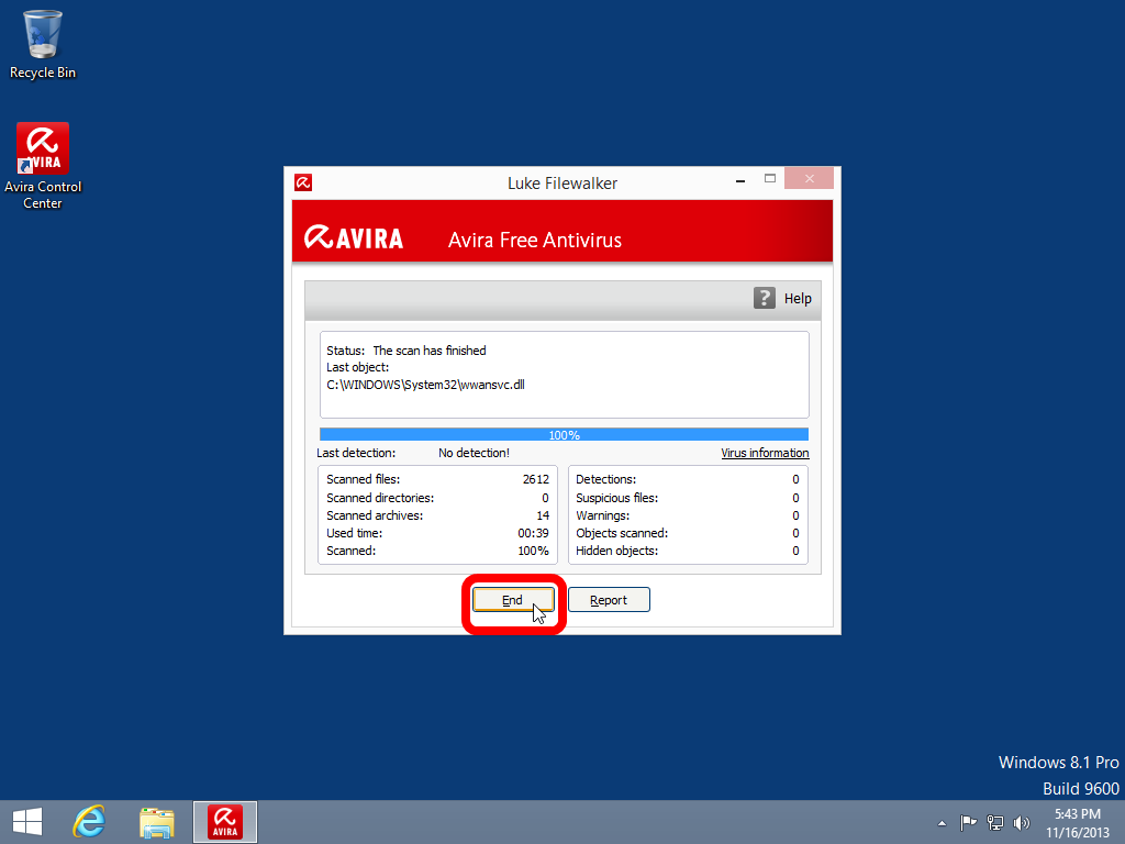 gratis antivirus windows 8 test