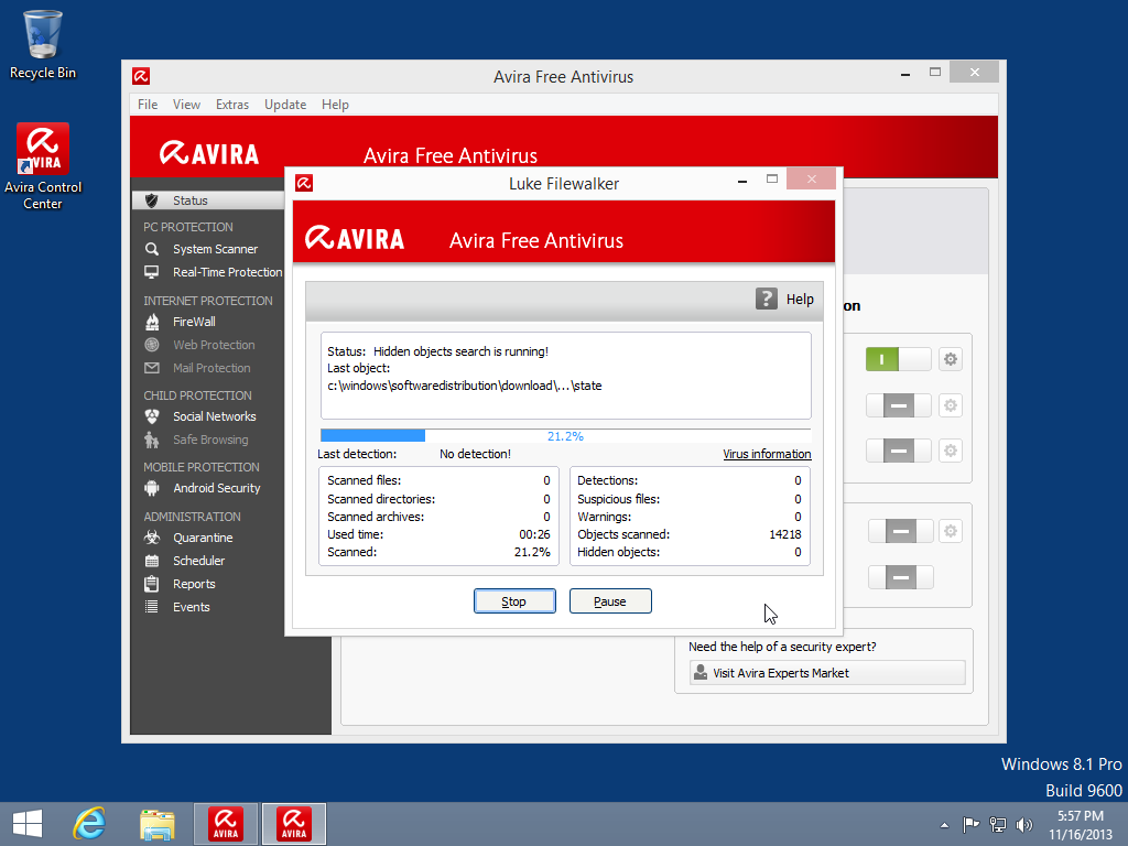 Avira для windows 8 - фото 4