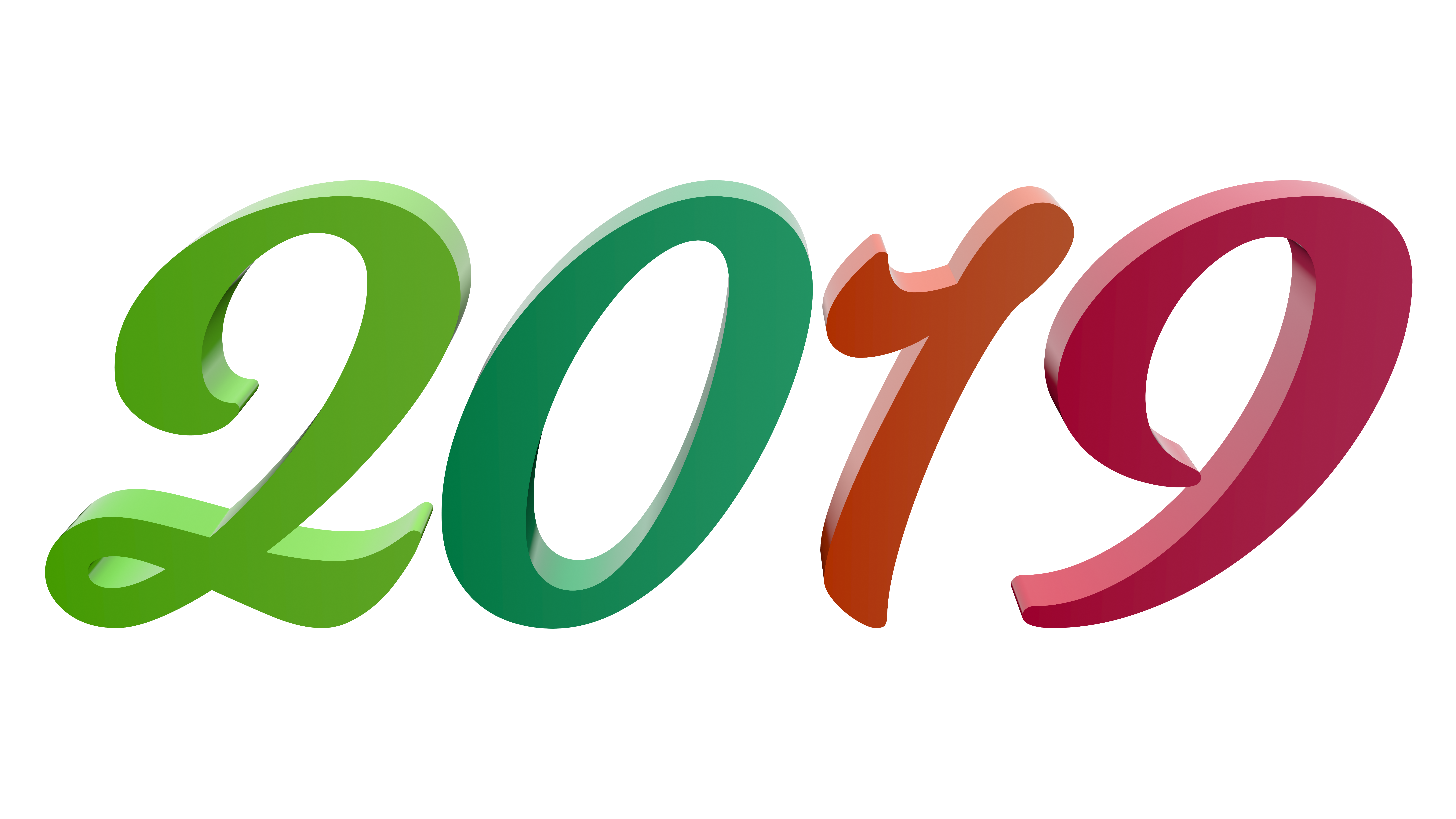 2019 New Year Free 3D Text Illustrations | Windows 8.1/10 Guides
