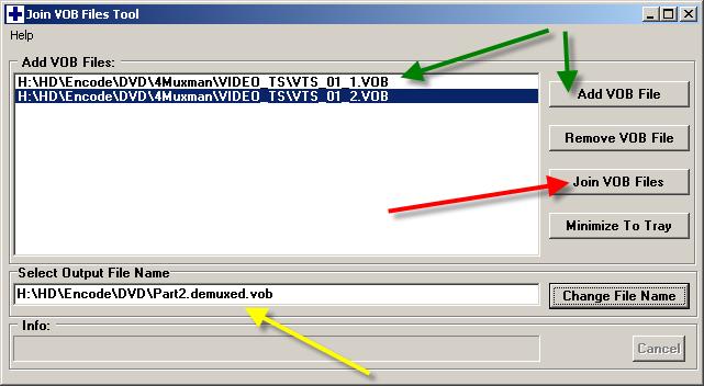 Программу для нарезки vob файлов