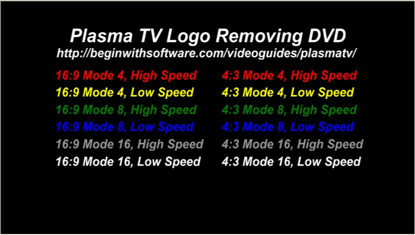 Plasma Tv Logo Removing Dvd Fix Burn In Pixels